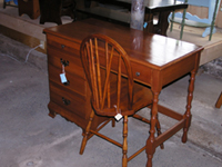 Beautiful wood desk with chair